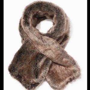 Stella & Dot Faux Fur Reversible Knit Scarf